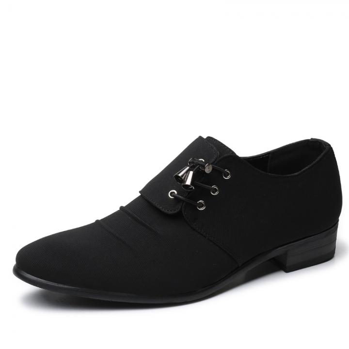 Elegant Design Handsome Men Oxford Shoes Formal Business Dress Pointed Wedding Shoes black 38 pu leather