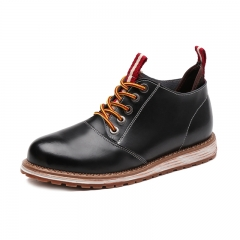 High Quality Winter Men Chelsea Boots Autumn Shoes Casual High Top Warm Leather Footwear black 39