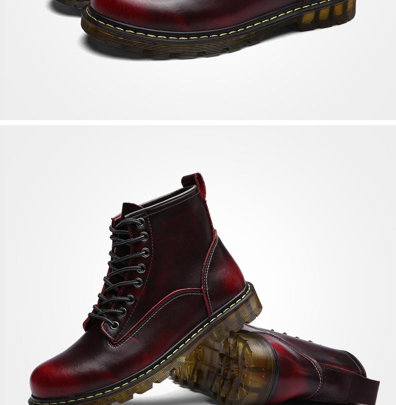 c0385dc1ecc6 Winter Men Boots Vintage Casual Men Shoes High Tops Lace-Up Warm ...