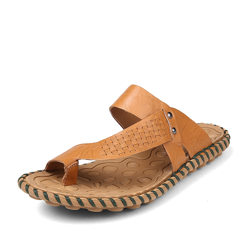 6d4979158 Summer Men Sandals Split Cow Leather Men Beach Sandals Crocodile Flip Flops  Cool brown 38  Product No  1945563. Item specifics  Brand