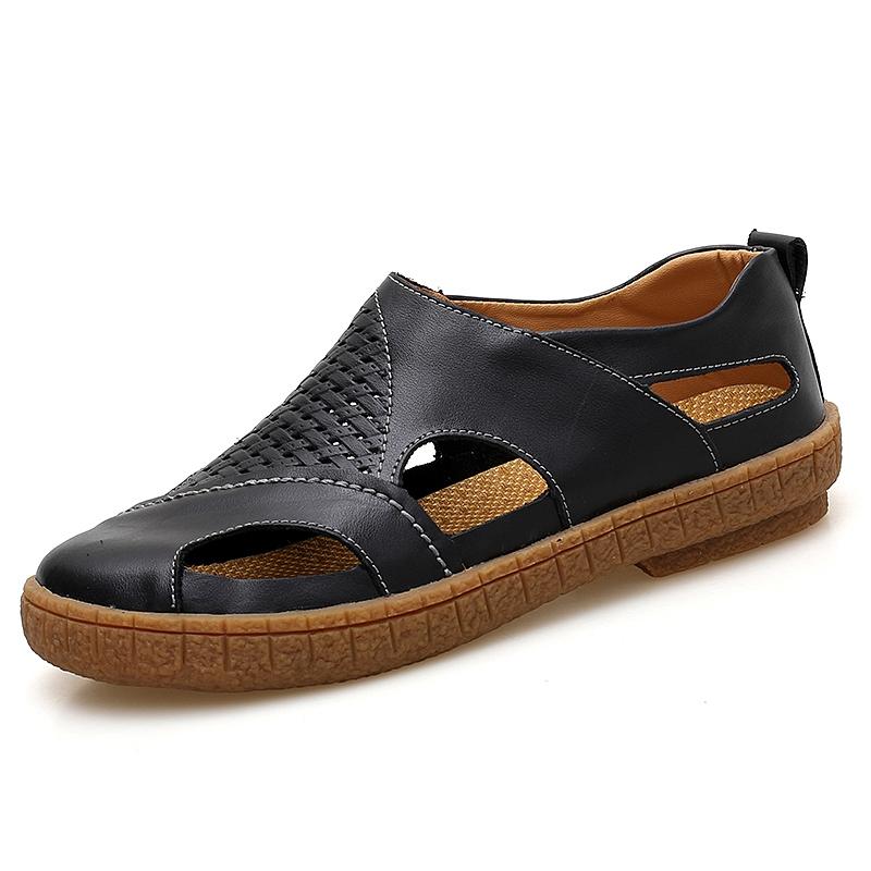 Dashing Men Sandals Brand Summer Sandals Men Outdoor Beach Slippers Walking Sneakers Male Moccasins Rome Rubber Sole Casual Shoes 38-47 Men's Shoes Men's Sandals
