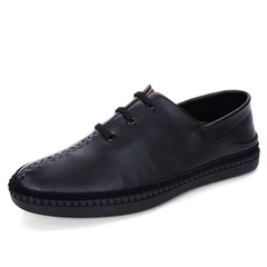 Luxury Leisure Men Casual Loafer Gentleman Fashion Party Cool Slip On Simple black 39