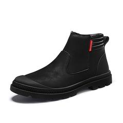 Vintage Winter Retro Men Boots Vintage Warm Desert Boots Punk Dark Black black 39