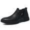 Handomse Winter Men Chelsea Boots Warm Leather Footwear High Quality Shoe black 39