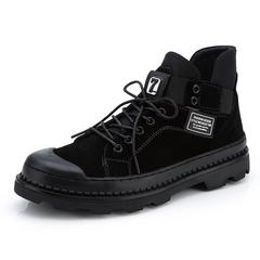Big Size 38~47 English Style Winter Men Boots Vintage Handsome Riding black 39