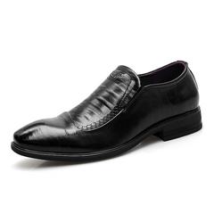 Office Gentlemen Men Formal Shoes Business Leather Dress Footwear black 38 genuine leather