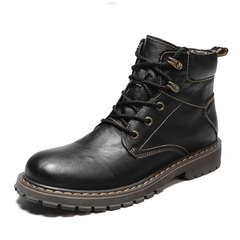 Delicate Winter Warm Men Boots Vintage English Style Motorcycle Cool black 39