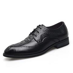 Crocodile Genuine Leather Luxury Business Men Dress Shoes Comfortable Wedding black 38 genuine leather