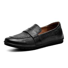 British Men Real Leather Formal Shoes Penny Loafer Simple Design black 38 genuine leather