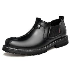 Men Chelsea Design Leather Boots Shoes Handsome Cool Vintage Formal Steampunk black 39