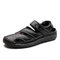 Summer New Open Toe Cow Leather Men Beach Sandals Shoe Outdoor Breathable black 38