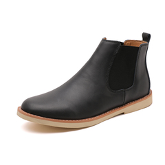 High Quality Winter Men Chelsea Boots Genuine Leather Business Western Style black 39