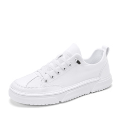 Handsome Spring Soft Leather High Quality Fashion Hip Hop Sneaker Shoes white 39