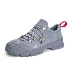 New Spring Summer Fashion Hip Hop Student Sneaker Shoes Leather Holes grey 39