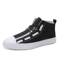 High Quality Fashion Hip Hop Student Sneaker Shoes Zipper Design Handsome black 39