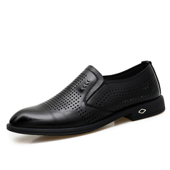 Men Formal Shoes Smart Party Cool Business Leather Dress Hollow Out Holes black 38 pu leather