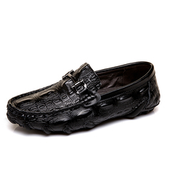 Italian Fashion Design Classic Formal Business Wedding Crocodile Loafer Shoes black 39
