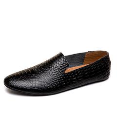 Men Formal Crocodile Shoes Smart Party Cool Leather Dress Business Handsome black 39