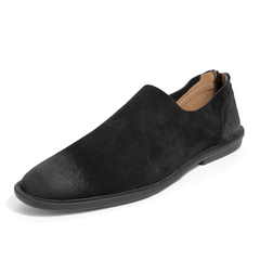 Trendy Men Formal Shoes Smart Party Cool Suede Leather Dress Business Handsome black 38 suede leather