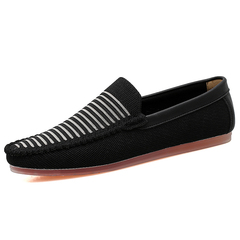 Good Leather Soft Men Driving Shoes Loafers Breathable Casual Lightweight black 39