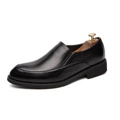 Retro Wingtip Men Dress Shoes Formal Slip On Gentleman Office Meeting Business black 39 pu leather