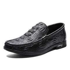 Luxurious Crocodile Formal Wingtip Men Dress Shoes Slip On Party Wedding Wear black 38 genuine leather