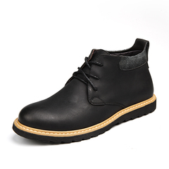 Handsome Cool Winter Men Riding Boots Shoes Vintage English Style Round Toe black 39