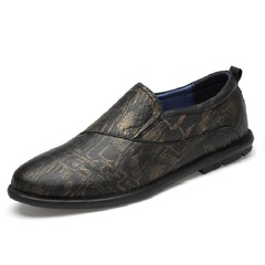 Classic Formal Slip On Wedding Italian Design Men Dress Shoes Gentleman Driving gold 38 genuine leather