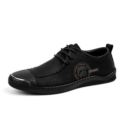 Handsome Men Brogues Shoes Formal Cap Toe Business Breathable High Quality Leather black 38 genuine leather