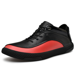 Men Dress Shoes Soft Cow Leather Formal Lace Up Smart Office Meeting Handsome red 39