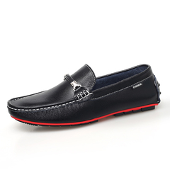 Big Size 38~47 Men's Driving Shoes Handmade Formal Loafer Genuine Soft Leather black 39