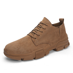 Cowboy Fashion Men Dress Shoes Formal Lace Up Comfortable Non-Slip Bottom Suede Leather brown 39 suede leather