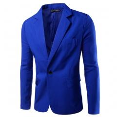 men's suits pure color business suits big yard five size eight colors royal blue XXXL