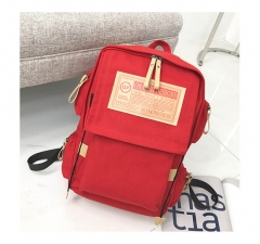 New vintage men's and women's outdoor backpack canvas bag seven colors available red one size