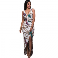 Hot selling women's dress digital printing the chain pattern slim and package buttocks color 1 S