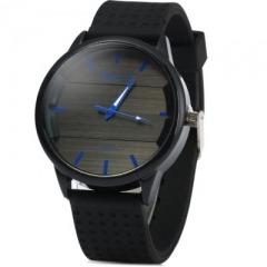 Simple elegant brand quartz watch silicone men outdoor sports watches blue one size