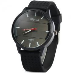 Simple elegant brand quartz watch silicone men outdoor sports watches black