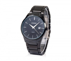men's watches fashion Curren brand business calendar casual stainless steel quartz wristwatch black one size