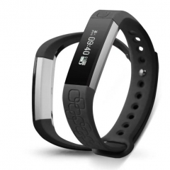 Smart Band Sport ID107 for Android iOS With Fitness Wristband Bluetooth Waterproof Heart rate Watch black one size