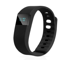 TW64 Fitness Tracker Bluetooth Smartband Sport Bracelet Pedometer For iPhone IOS Android PK Fitbit black one size