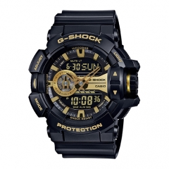 Casio G-Shock Black and Rose Gold-Tone Dial Resin Quartz Men's Watch gold one size