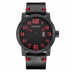 Curren mens top brand luxury military wristwatches fashion casual quartz watch calendar 8254date black black one size