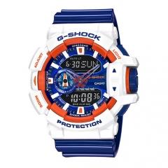 Casio G-Shock GA-400CS Colors Series Dial Multi-Dimensional Analog Digital Watch blue white one size