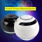 Mini Spherical Bluetooth Wireless Portable Speaker with Subwoofer Mic TF slot FM function black 2.75inchX3.12inch