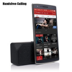 Dual Power Mini Portable Bluetooth Wireless Stereo speaker FM TF Handsfree call for Phone PC black 108x36x54mm