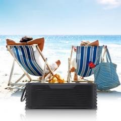 2*10W Waterproof Wireless Bluetooth Speaker Portable Bass Built-in 2600mAh battery for Phone PC black 225mm*70mm*80mm