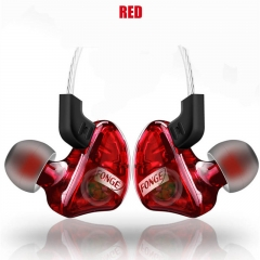 New Design Waterproof Headset Sport Heavy Bass Earphone Stereo Music Headphone with Microphone red
