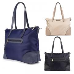 Elegant Women Handbags Nylon Girls Shoulder Bags Classical Tote Bags Ladies Purse Black 35x15x29cm