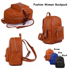 New Fashion Women Backpack Mini Outdoor Travel Backpack Ladies Casual Bag School Bag for Girls Blue 25x6x23cm