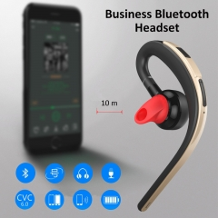 Business Bluetooth Headset Voice Control Wireless Music Headphone HIFI Stereo Earphone Bass Earbuds gold
